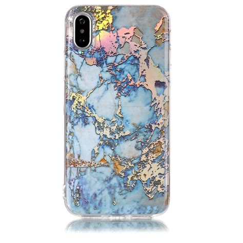 Marble Softcase For Iphone 4566 for iphone x grey gold marble pattern soft protective back cover alex nld