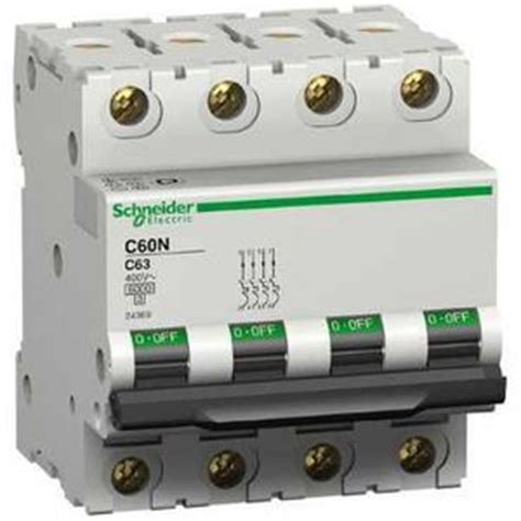 Mcb Shnieder C40 schneider 24215 disjoncteur modulaire multi 9 c60n 3 p 244 les 16 a courbe c