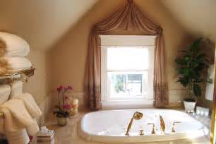 white towel small window with curtain modern romantic simple bathroom design