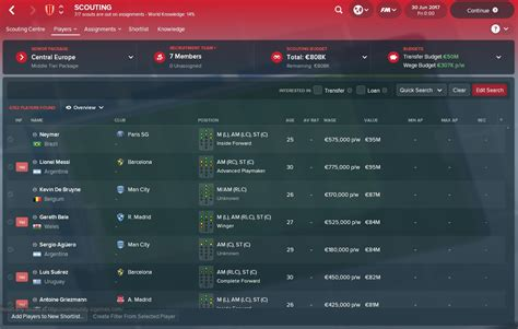 best football manager football manager 2018 neymar messi the most expensive