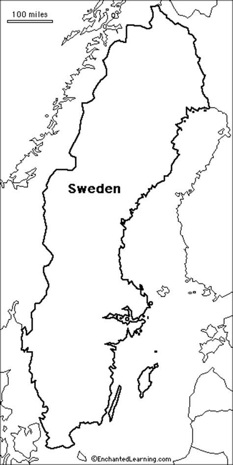 Geography Blog: Sweden   Outline Maps