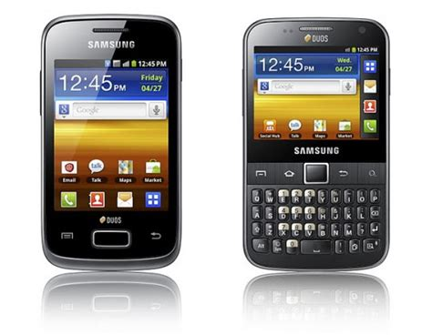 samsung unveils the galaxy y duos and galaxy y pro duos both with dual sim capability