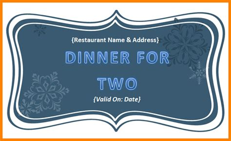 dinner gift card template 9 dinner voucher template defense