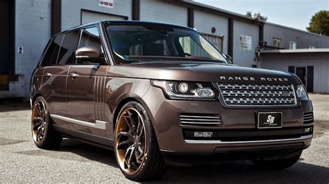 brown range rover dub magazine range rover vogue on pur wheels by sr auto