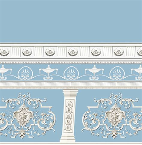 victorian dolls house wallpaper dolls house wallpaper victorian 1 12th 1 24th scale blue quality paper 253 ebay