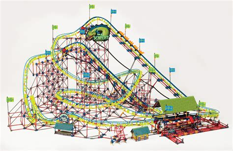 Rollercoaster Ride On Your Fridge With Frigits by K Nex Thrill Rides Of Serpent Coaster