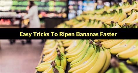simple tricks  ripen green bananas faster