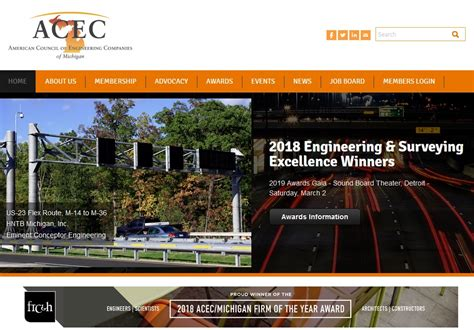 Michigan Tech Mba by Acec Michigan Elects New President Board Techcentury