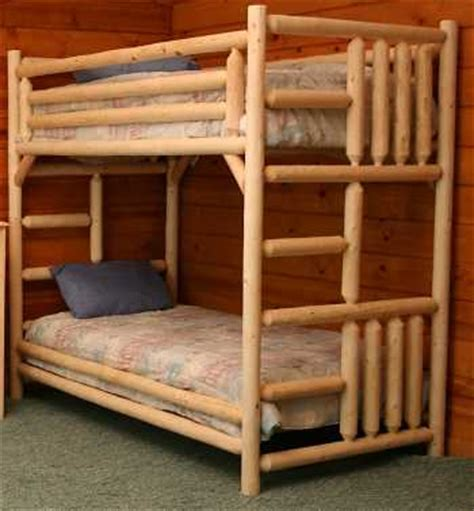 Pine Log Bunk Beds Cottage Cedar Log Bunk Bed