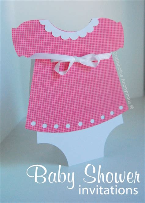Handmade Invitations For Baby Shower - craftaholics anonymous handmade baby shower invitations