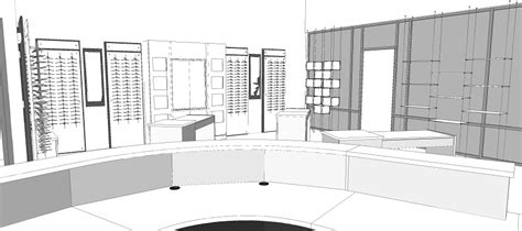 optical shop design layout custom design architectural services for optical stores