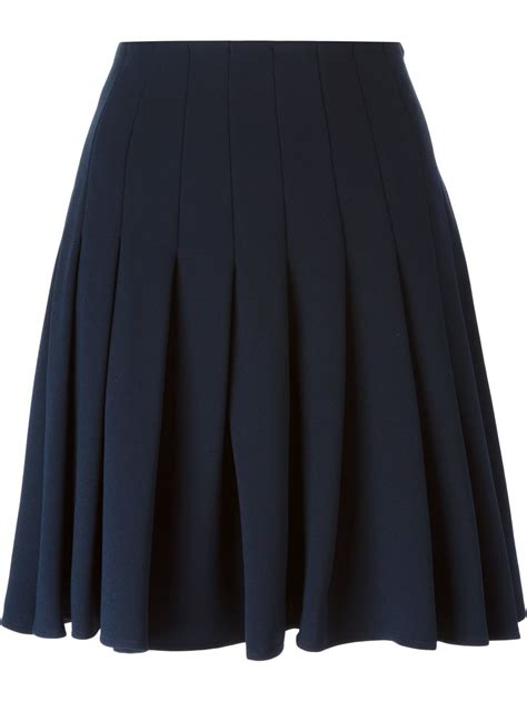 steffen schraut pleated skirt in blue lyst