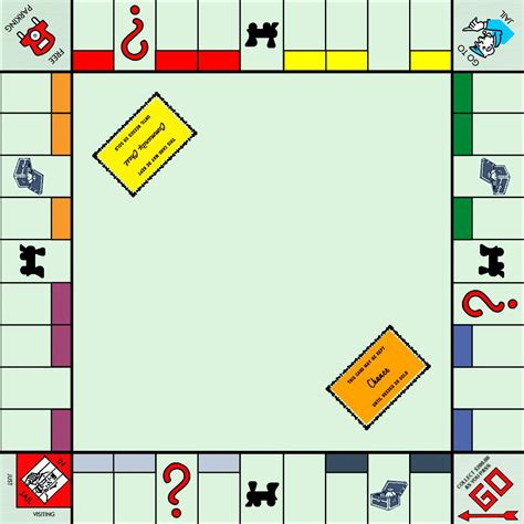 monopoly board template 6 best images of printable blank monopoly board blank