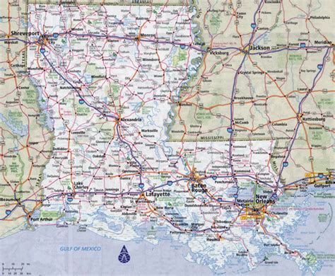 louisiana hwy map large detailed roads and highways map of louisiana state