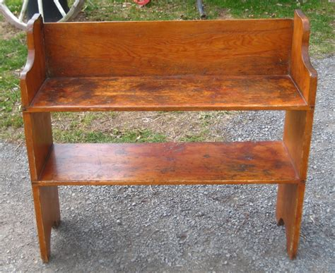 antique bucket bench early bucket bench
