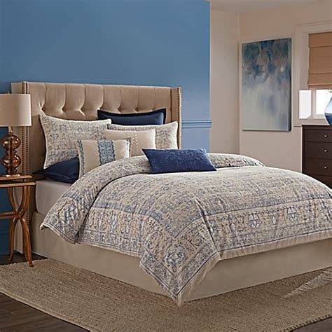 wamsutta 174 tapestry comforter set in blue www