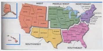 united states map of regions tt amazing race home