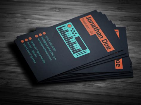 producer business card template 11 amazing business card templates for dj s cardrabbit