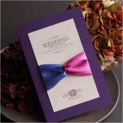 bof custom wedding invitations cards purple ribbon wedding invitations cards western invitation