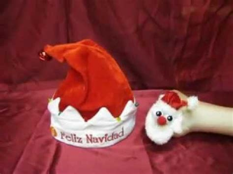 animated singing santa hat dandee animated santa hat singing quot feliz navidad quot