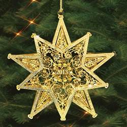 the 2013 danbury mint annual gold christmas ornament the