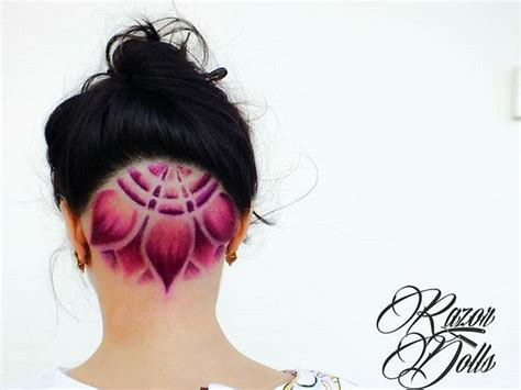undercut head tattoo 18 best shaved lower back of head images on pinterest