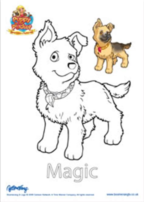 Coloring Pages Puppy In My Pocket   puppy in my pocket magic coloring page