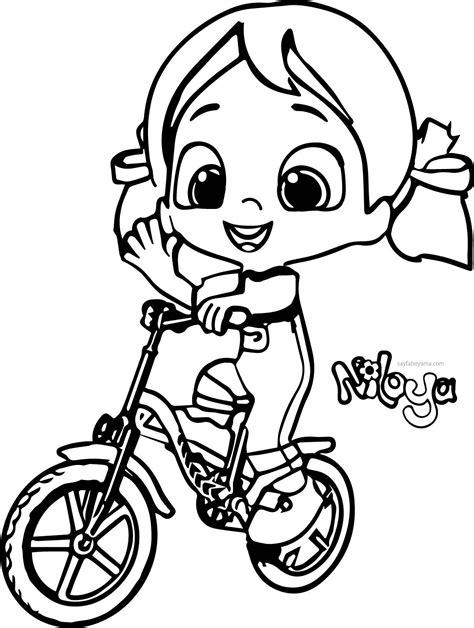 niloya bisiklet kullaniyor boyama sayfasi boyama