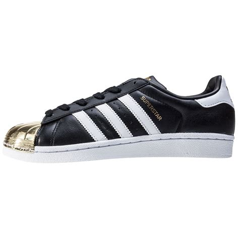 Adidas Superstar Metal adidas superstar metal toe womens trainers in black gold