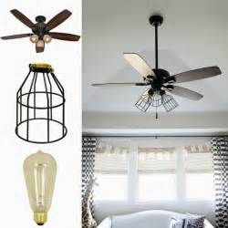 ceiling fan with edison lights wonderful diy cage light ceiling fan