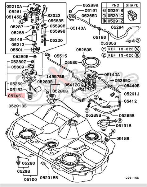 mitsubishi lancer fuel tank wiring diagrams repair