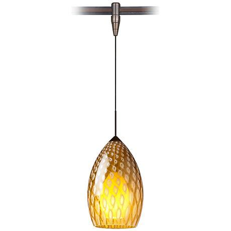 Murano Glass Mini Pendant Lights Firebird 4 1 2 Quot W Murano Glass Bronze Monorail Mini Pendant 39589 Ls Plus