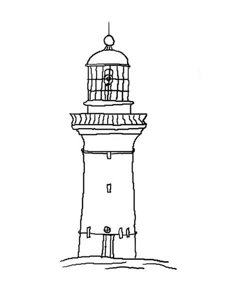 lighthouse printable free lighthouse outline coloring pages