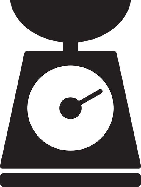 Timbangan Balance De Cuisine Digital Kitchen Scale Digital imagem vetorial gratis cozinha escala silhueta peso