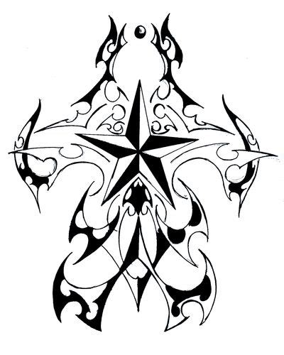tribal nautical star tattoo designs images designs