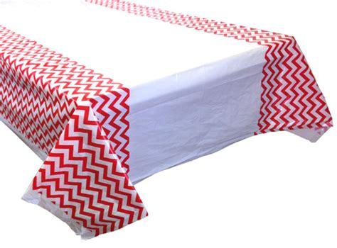 Chevron Table Cover by Chevron Plastic Tablecloth