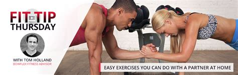 easy exercises you can do with a partner at home bowflex