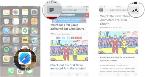 how to use reader view in safari on iphone and imore