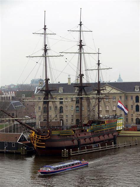 schip amsterdam treklens voc ship in amsterdam photo