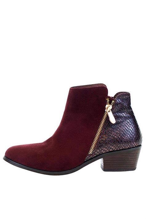Gc Shoes gc shoes burgundy zip bootie from new york city by via shoptiques