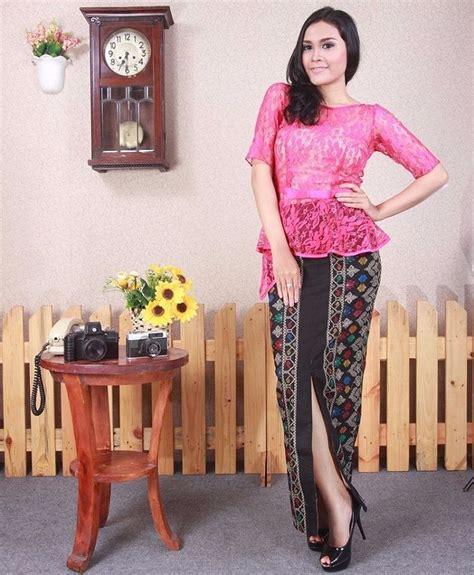 Jo 873 Dress Biru Muda trend baju kebaya modern untuk remaja modis dan modern