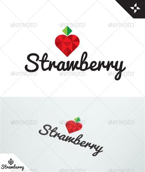 Sticker Stroberi strawberry logo graphicriver