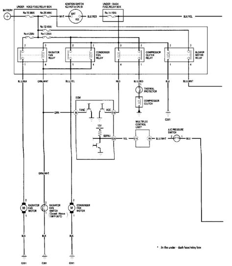 2002 honda civic ex ac wiring diagram repair wiring scheme