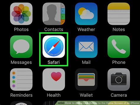 how to add a link button to the home screen of an iphone