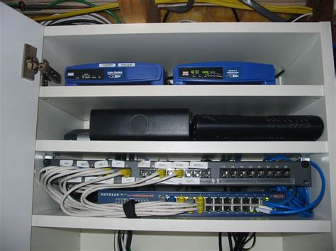home network cabinet design networking our eco house
