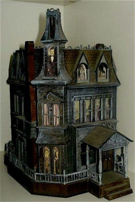 halloween doll house haunted dollhouse dolls houses minatures pinterest