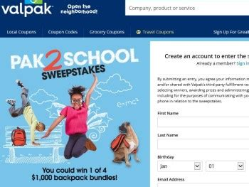 Inbox Dollars Sweepstakes Winners - the valpak pak2school sweepstakes sweepstakes fanatics