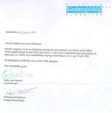 hoe brief opstellen ouderschapsverlof kinderdagverblijf kdv plons