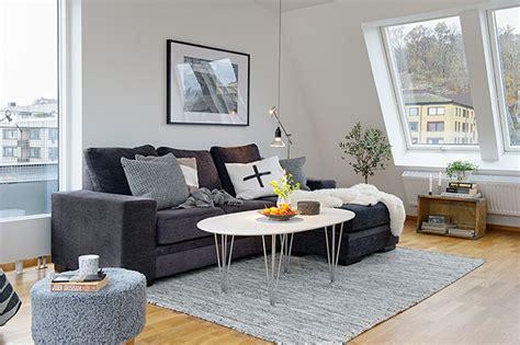 timeless design  modern scandinavian attic apartment