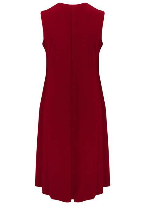 sleeveless swing dress kamali kulture sleeveless swing dress red